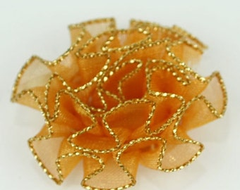 B-072 / Lace Flower / 5 Pcs / Color - Orange / Size : 3 cm.