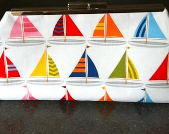SUMMER SALE-Sailboat Clutch