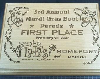 MARDI GRAS Boat Parade Award - 1st Place