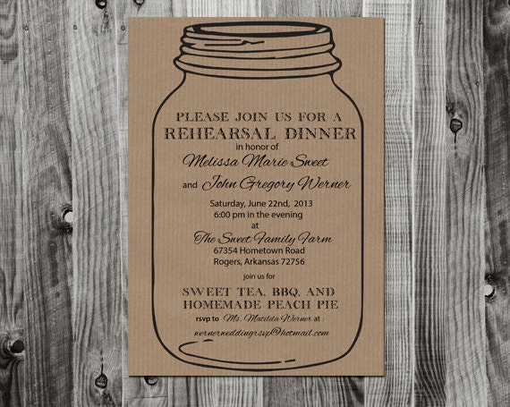 blank dinner invitation template
