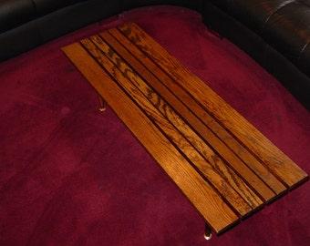 Solid Oak Slat Table/Bench