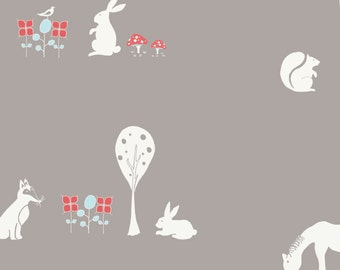 Birch Organic Fabrics Storyboek Two Collection One Yard in Meadow Friends