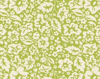 One Yard of Sweetest Floral Green from The Sweetest Thing by Zoe Pearn
