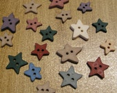 Buttons - Star Buttons - set of 18 Buttons - crafts, sewing, jewelry, scrapbooking, card making, beads