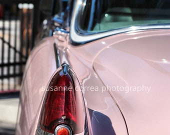 Pink Cadillac in Las Vegas at an Elvis Wedding, fine art photography, 11x14, home decor,