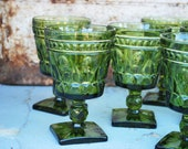 Set of 8 Green Goblets