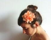 Chiffon Flower Hair Clip / Chiffon Brooch Flower