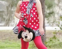 New handmade red polka dot ruffle zebra minnie mouse pillowcase dress CUSTOM MADE 3mos up to 6y