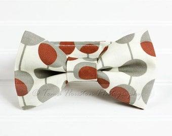 Boy's Bow Tie, Newborn, Baby, Child- Rust, Grey, Cream  (2-3 Business Day Processing)