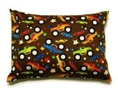 """Big Wheel Trucks and cars decorative throw pillow cover 12"""" x 16""""  for home and travel"""