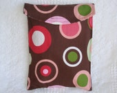 Diaper and Wipe Clutch - Large Circles Girl