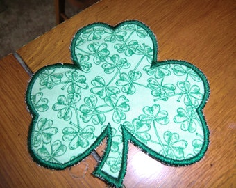 Embroidered Magnet - Shamrock - Plain