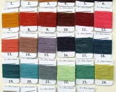 25 Yards total (5 yards each) of Waxed Irish Linen Thread - Choose any 5 colors.