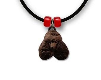Enamel Black Poodle Necklace
