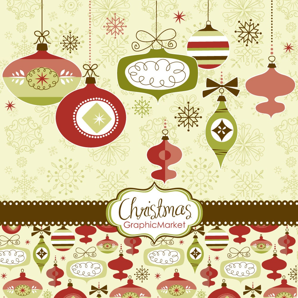 instant download christmas digital clip art card by graphicmarket