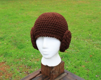 Crochet   Princess Leia hat
