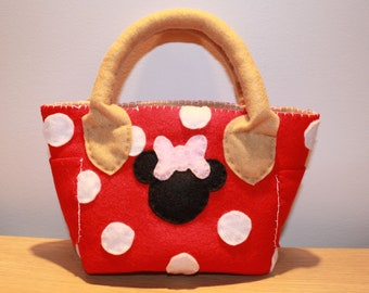Minnie Mouse Felt Purse