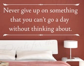 Never Give Up Office Inspirational Achievement Success Vinyl Wall Lettering Decal Quote Design Sticker Graphic Decoration Art Decor J91