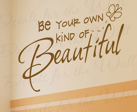 Be Your Own Kind Beautiful Inspirational Motivational Kid