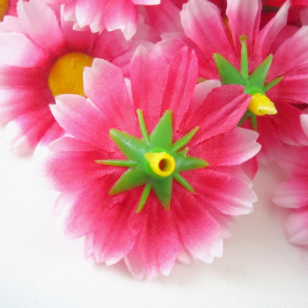 Red White Edge Gerbera Daisy Heads Artificial