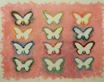 Original Painting with Butterflies