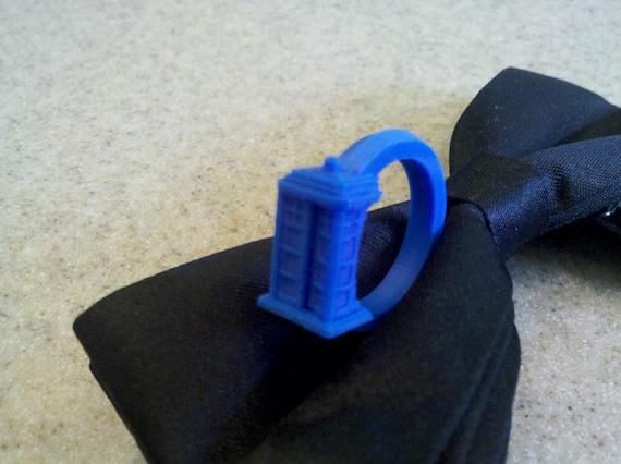 Doctor Who TARDIS ring 3D Printed