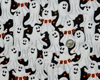 Boo Ghost - Fabric By The Half Yard 18 inches x 44 inches