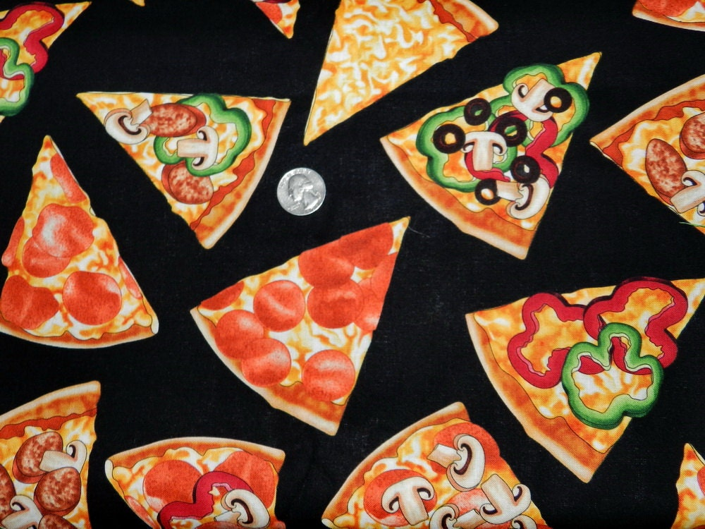 Pizza 22 inches x 42 inches by TheFabricFox on Etsy