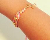 Sideway Cross Friendship Bracelet