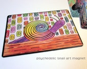 "Art Magnet Psychedelic Snail 3.5"" x 5"""