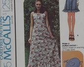 1974 McCalls Sewing Pattern For Maxi Dress And Jumper Misses' Size 12