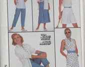 1987 Simplicity Pattern For Skirt, Pants,Shorts, Shirt, And Cardigan Size 12