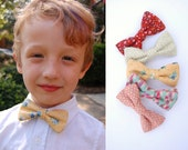 Made-to-Order Child's Bow Tie - Clip-on bowtie, choose from 36 vintage fabric options.