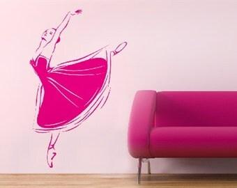 Children wall decal, ballerina wall decal, kids wall decal, children room, girl wall decal, gift for girl, dancer wall sticker