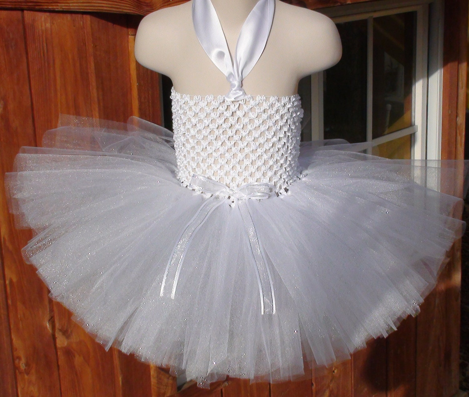 Baby girl tutu dress/white tutu