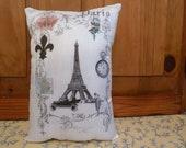Paris Collage from Vintage Prints 11 x 8 Pillow