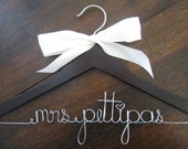 FALL SALE - 10% off your Personalized Wedding Hanger with Ribbon, Bridal Hangers, Bridal Party Gifts, Wedding Gift, Gift Wrap Included