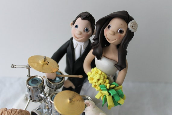 drummer wedding cake topper drummer custom wedding cake topper drum set by 13755