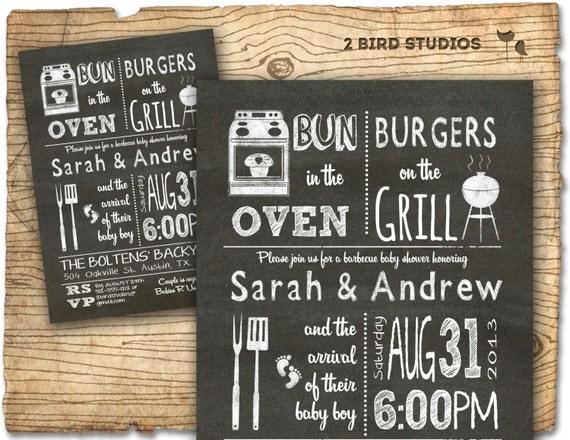 bbq baby shower invitation baby q bbq baby shower invite, Baby shower invitations