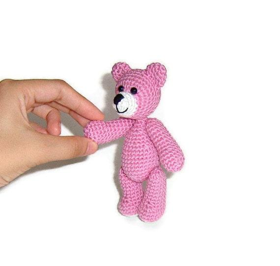 Amigurumi Llittle Crochet Pink Teddy Bear