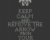 Keep Calm and Remove Arrow from Knee pattern  -  small version