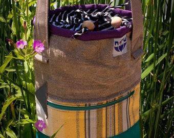 Shoulder bag Ko, little shoulder bag. Woman bag. Recycled canvas bag.