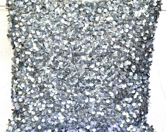 Sequin Throw Pillow, Silver Throw Pillow, Glitter Pillow, Shimmer Pillow, Sparkly, Embellished. Sequins, Beads - 'Twinkling Stars'