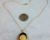 Gorgeous Gold Filled Locket Providence Stock Company 1934 Gold & Black