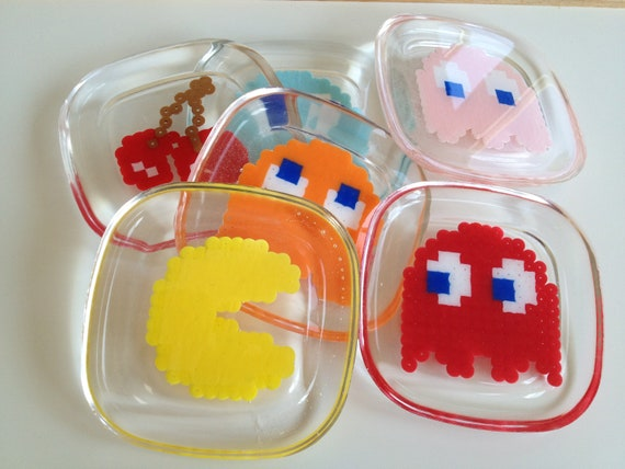 Set of 6 Pac-Man novelty coasters
