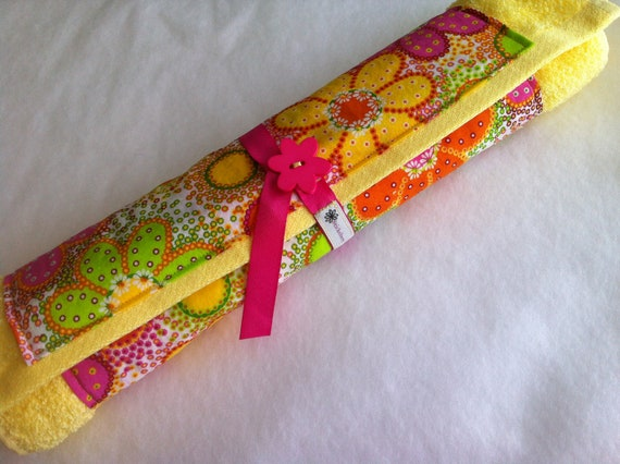Neon Floral Baby Changing Pad