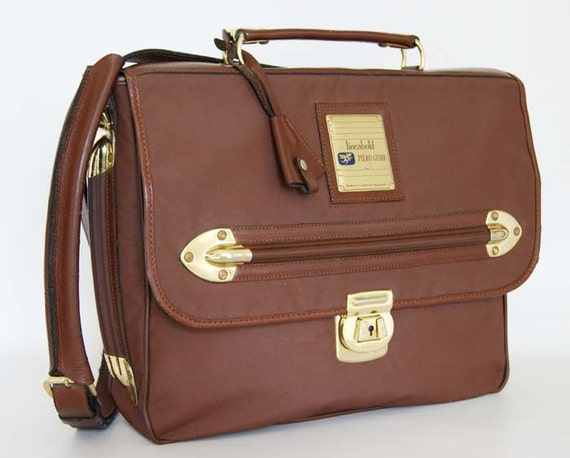 Authentic vintage 1990 satchel bag, briefcase, Piero Guidi