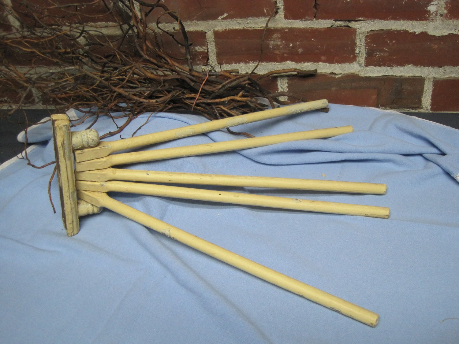 Chippy Wooden Kitchen Or Bath Towel Drying Rack So By