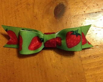 Strawberry fields s Hair Bow - 2 inches