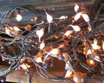Primitive Country Hand Dipped Silicone Light Strand - Buttermilk - 50 Count